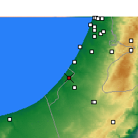 Nearby Forecast Locations - Gaza - Mapa