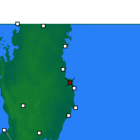Nearby Forecast Locations - Dauhá - Mapa