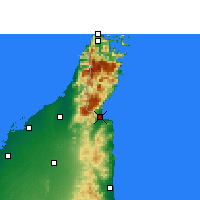 Nearby Forecast Locations - Dibba - Mapa