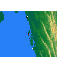 Nearby Forecast Locations - Kutubdia - Mapa