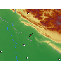 Nearby Forecast Locations - Nepalgunj - Mapa