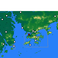 Nearby Forecast Locations - Lau Fau Shan - Mapa