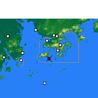 Nearby Forecast Locations - Cheung Chau - Mapa