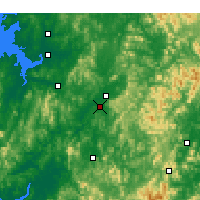 Nearby Forecast Locations - Čchongdžu - Mapa