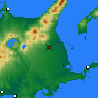 Nearby Forecast Locations - Nakashibetsu - Mapa