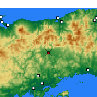 Nearby Forecast Locations - Tsuyama - Mapa