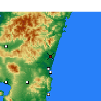 Nearby Forecast Locations - Nyutabaru - Mapa