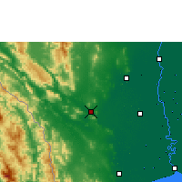 Nearby Forecast Locations - Kanchanaburi - Mapa