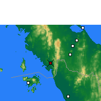 Nearby Forecast Locations - Satun - Mapa