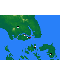 Nearby Forecast Locations - Singapur - Mapa