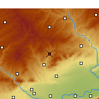 Nearby Forecast Locations - Tchung-čchuan - Mapa