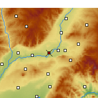 Nearby Forecast Locations - Xinjiang - Mapa