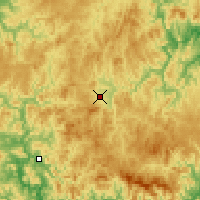 Nearby Forecast Locations - Luozigou - Mapa