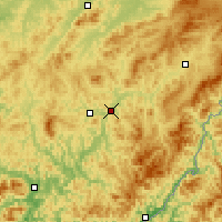 Nearby Forecast Locations - Tchung-chua - Mapa