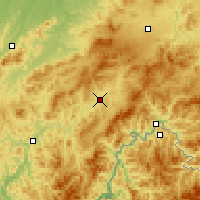 Nearby Forecast Locations - Hunjiang - Mapa