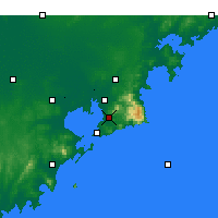 Nearby Forecast Locations - Laoshan - Mapa