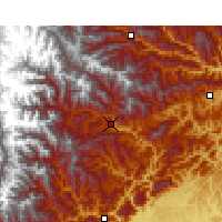 Nearby Forecast Locations - Pingwu - Mapa