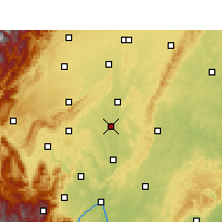 Nearby Forecast Locations - Mej-šan - Mapa
