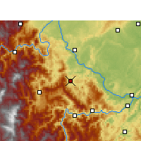 Nearby Forecast Locations - Muchuan - Mapa
