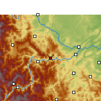 Nearby Forecast Locations - Pingshan - Mapa