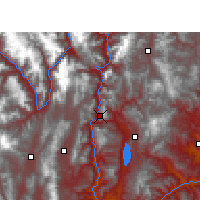 Nearby Forecast Locations - Lijiang - Mapa