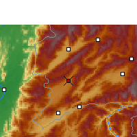 Nearby Forecast Locations - Longchuan/YNN - Mapa