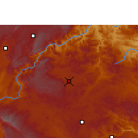 Nearby Forecast Locations - Qiubei - Mapa