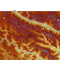 Nearby Forecast Locations - Lüchun - Mapa