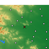 Nearby Forecast Locations - Pching-ting-šan - Mapa