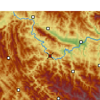 Nearby Forecast Locations - Ziyang/SAX - Mapa