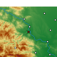 Nearby Forecast Locations - Gucheng - Mapa