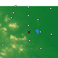 Nearby Forecast Locations - Ču-ma-tien - Mapa