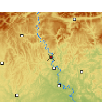 Nearby Forecast Locations - Cangxi - Mapa