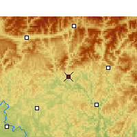 Nearby Forecast Locations - Pa-čung - Mapa