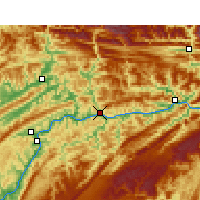 Nearby Forecast Locations - Yunyang - Mapa