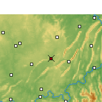 Nearby Forecast Locations - Rongchang - Mapa