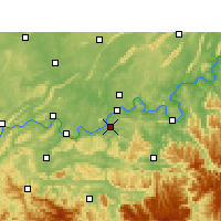 Nearby Forecast Locations - Naxi - Mapa