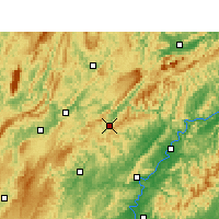 Nearby Forecast Locations - Guzhang - Mapa