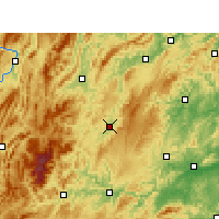 Nearby Forecast Locations - Songtao - Mapa