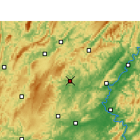 Nearby Forecast Locations - Jishou - Mapa