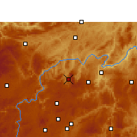 Nearby Forecast Locations - Xifeng/GZH - Mapa