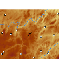 Nearby Forecast Locations - Weng'an - Mapa