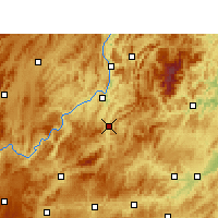 Nearby Forecast Locations - Shiqian - Mapa