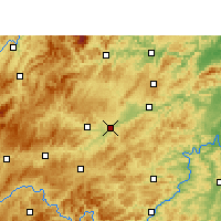 Nearby Forecast Locations - Yuping - Mapa
