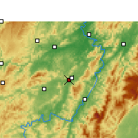 Nearby Forecast Locations - Zhongfang - Mapa