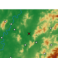 Nearby Forecast Locations - You Xian - Mapa