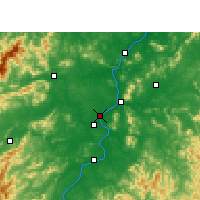 Nearby Forecast Locations - Ťi-an - Mapa