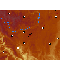 Nearby Forecast Locations - An-šun - Mapa