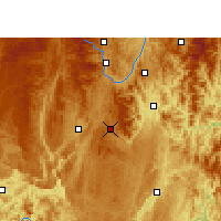 Nearby Forecast Locations - Dushan - Mapa
