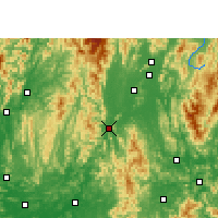 Nearby Forecast Locations - Yongfu - Mapa